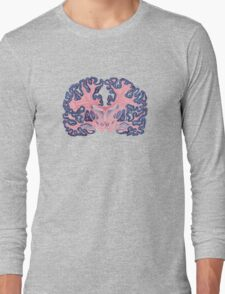 Gyri and Swirls of Human Brain Long Sleeve T-Shirt
