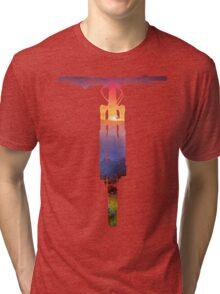 Mountain Bike Sunset - MTB Collection #002 Tri-blend T-Shirt