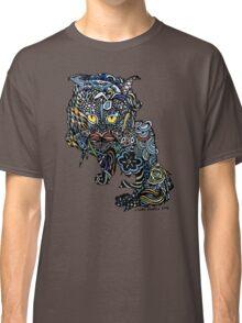 Dragon Cat Color on Black Classic T-Shirt