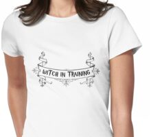 Witch in training Womens Fitted T-Shirt