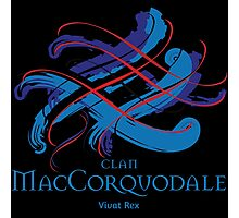 Clan MacCorquodale - Prefer your gift on Black/White tell us at info@tangledtartan.com  Photographic Print