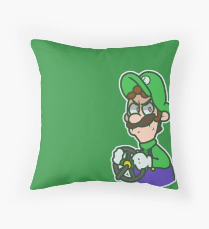 Luigi Kart 8 Throw Pillow