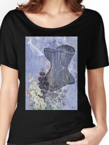 Lavender Purple Victorian Floral Steampunk Corset Women's Relaxed Fit T-Shirt