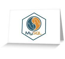 MYSQL hexagonal programming language sticker Greeting Card