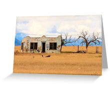 Old Gas Station New Mexico Greeting Card