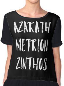 Azarath Metrion Zinthos Chiffon Top