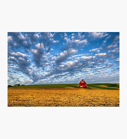 Palouse Country Barn with Dramtic Cloudscape Photographic Print