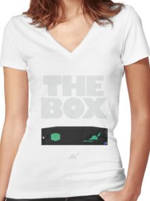 The Box by Pied piper Women's Fitted V-Neck T-Shirt