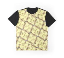 Yellow Quilt With Flowers Graphic T-Shirt