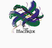 Clan MacBride - Prefer your gift on Black/White tell us at info@tangledtartan.com  Unisex T-Shirt