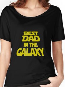 Mens T-shirt Best Dad In The Galaxy.  Father's Day Holiday or Gift Unisex T-Shirt Women's Relaxed Fit T-Shirt