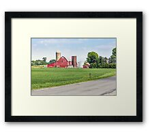 Rural Ohio Road Framed Print