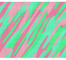 pink and green abstract 3 Photographic Print