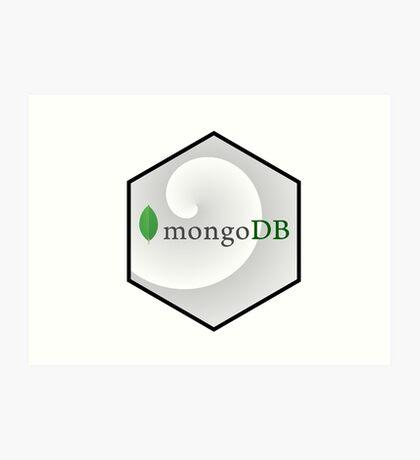 mongo DB hexagonal programming language Art Print