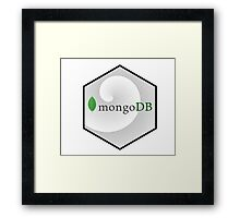 mongo DB hexagonal programming language Framed Print