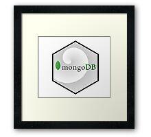 mongo DB hexagonal programming language Framed Print