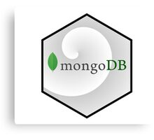 mongo DB hexagonal programming language Canvas Print