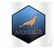 maria DB hexagonal programming language sticker Poster