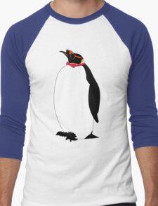 Hipster Penguin Men's Baseball ¾ T-Shirt