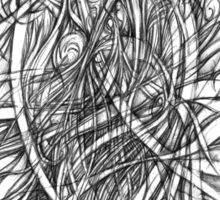 Abstract Doodle II Sticker
