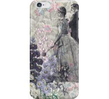 Lavender Floral Victorian Man Woman iPhone Case/Skin