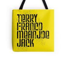 Terry Franco Mean Joe Jack / Gold Tote Bag