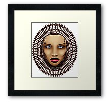 Woman-Face Framed Print