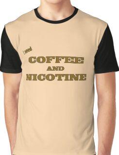 Coffee And Nicotine Graphic T-Shirt