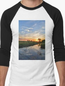 Cirrus Evening Portrait Men's Baseball ¾ T-Shirt