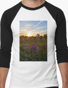 Looseleaf Sunset Men's Baseball ¾ T-Shirt