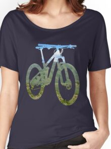 Mountain Bike Mountain and Sky - MTB Collection #003 Women's Relaxed Fit T-Shirt