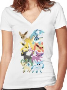 Eeveelutions Women's Fitted V-Neck T-Shirt