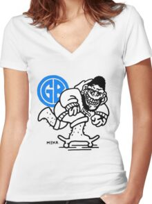 Gorilla Biscuits Women's Fitted V-Neck T-Shirt
