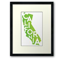California - Green Watercolor Framed Print