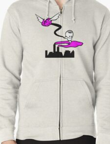 Travelling By Your Imagination Zipped Hoodie