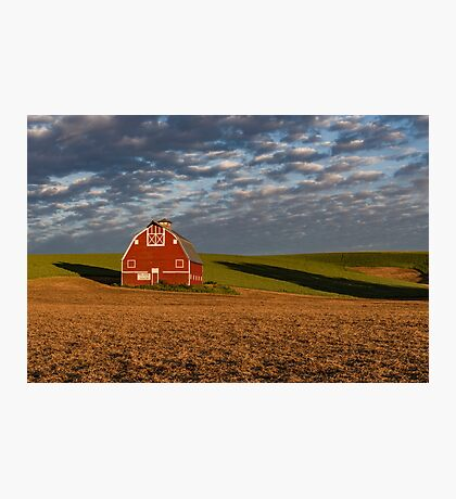 Palouse Country Barn with Shadows Photographic Print