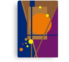 Playful geometric colorful design by Moma Canvas Print