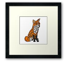 Cool Foxy Red Fox Abstract Original Framed Print