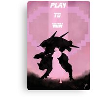 Play to win Canvas Print
