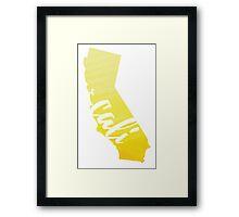 California - Yellow Watercolor Framed Print