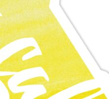 California - Yellow Watercolor Sticker