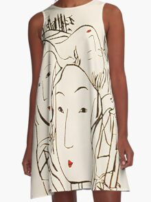 Japanese Bamboo Forest A-Line Dress