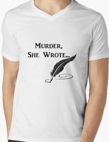 Murder, She Wrote - Quotes Mens V-Neck T-Shirt