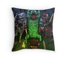 Minecraft Monsters Throw Pillow