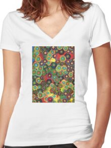 Zoanthid Women's Fitted V-Neck T-Shirt