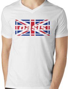 Oasis - Union Jack Mens V-Neck T-Shirt