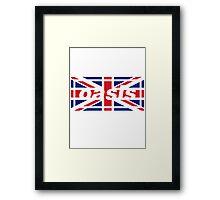 Oasis - Union Jack Framed Print