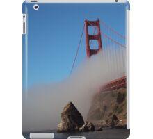 The Marine Layer flowing over the Golden Gate Bridge iPad Case/Skin