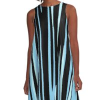 black and blue streaks A-Line Dress