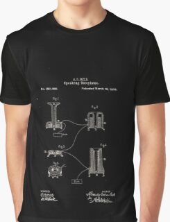 Alexander Bell Speaking Telephone Patent 1878 Graphic T-Shirt